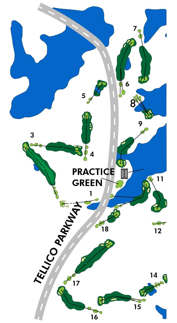 Tanasi Golf Course map